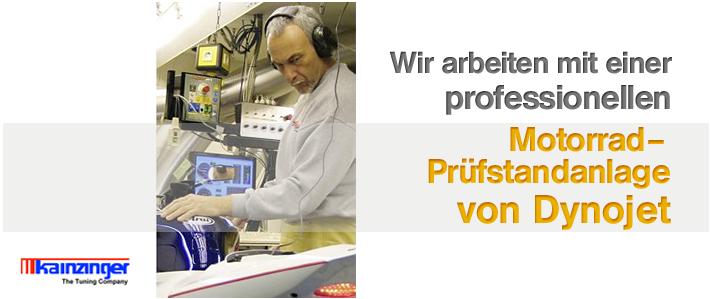Wir bei KAINZINGER -The Tuning Company arbeiten mit einem professionellen Dynojet Prüfstandsanlage!